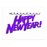 Countdown To New Year Purple Postcards