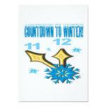 "Countdown To Winter 5"" X 7"" Invitation Card"