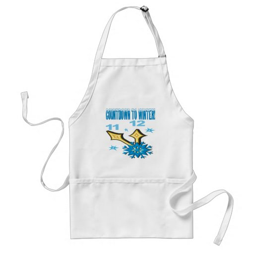 Countdown To Winter Adult Apron