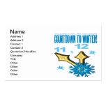 Countdown To Winter Business Card Templates