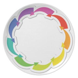 Counter Clockwise Arrows Melamine Plate