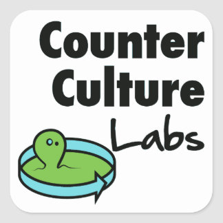 Counter Culture Labs square logo Square Sticker