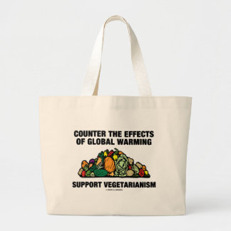 Counter Effects Global Warming Support Vegetarian Bags