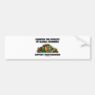 Counter Effects Global Warming Support Vegetarian Car Bumper Sticker
