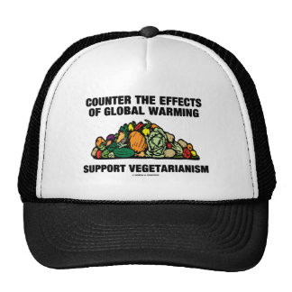 Counter Effects Global Warming Support Vegetarian Hats