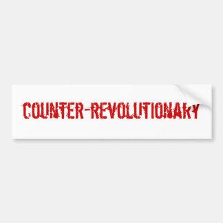 Counter-Revolutionary Bumpersticker Car Bumper Sticker