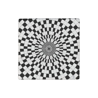 Counter Spirals by Kenneth Yoncich Stone Magnet
