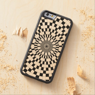 Counter Spirals Carved Maple iPhone 6 Bumper Case