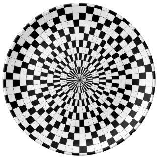 Counter Spirals Porcelain Plates