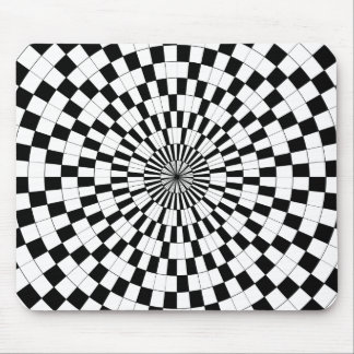 Counter Spirals Mouse Pad