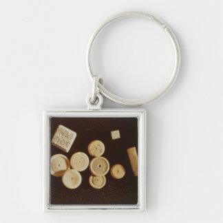 Counters and dice, Gallo-Roman Key Chain