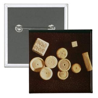 Counters and dice, Gallo-Roman Pinback Button
