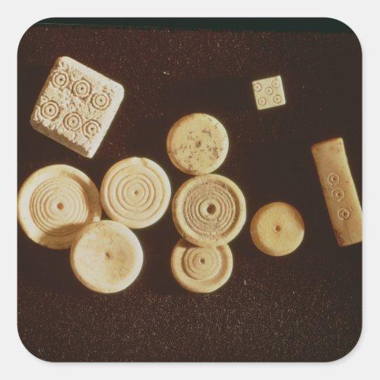 Counters and dice, Gallo-Roman Square Sticker