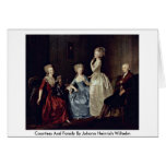 Countess And Family By Johann Heinrich Wilhelm Greeting Card