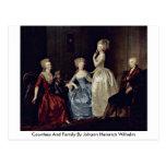 Countess And Family By Johann Heinrich Wilhelm Postcards