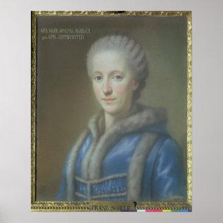 Countess Maria Josepha von Harrach Poster