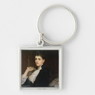 Countess of Airlie Silver-Colored Square Keychain