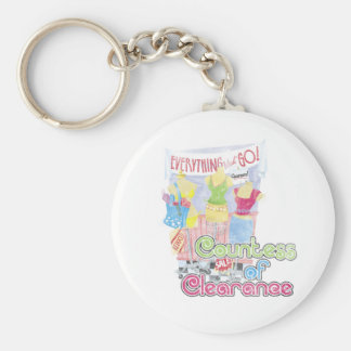 Countess of Clearance Basic Round Button Keychain