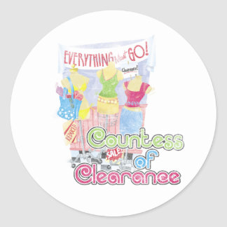Countess of Clearance Classic Round Sticker