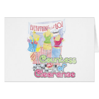 Countess of Clearance Greeting Card