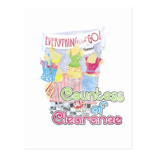Countess of Clearance Postcard