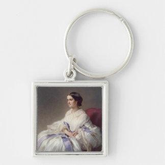 Countess Olga Shuvalova, 1858 Silver-Colored Square Keychain