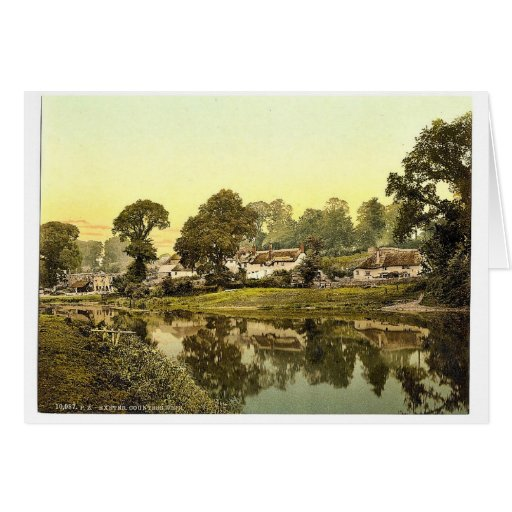 Countess Weir, Exeter, England classic Photochrom Greeting Card