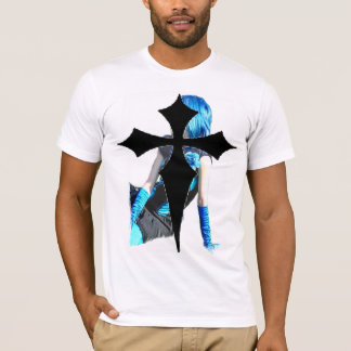 Countess Zoe: BlueGoth and gothic cross 14.0 T-Shirt