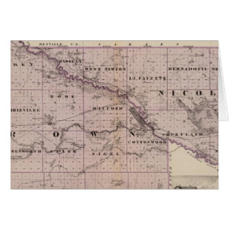 Counties of Brown and Nicollet, Minnesota Greeting Card