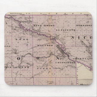 Counties of Brown and Nicollet, Minnesota Mouse Pad