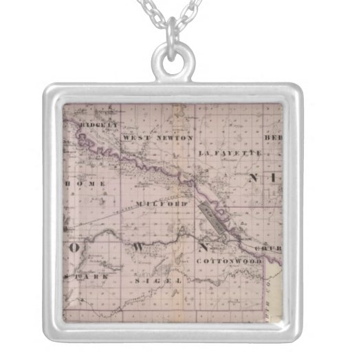 Counties of Brown and Nicollet, Minnesota Personalized Necklace