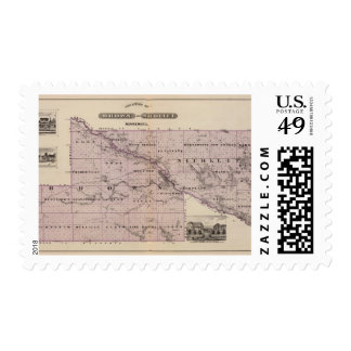 Counties of Brown and Nicollet, Minnesota Postage Stamps