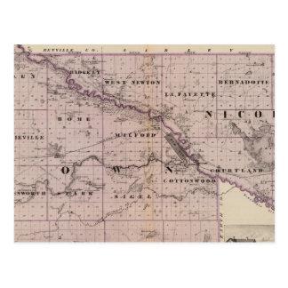 Counties of Brown and Nicollet, Minnesota Postcard