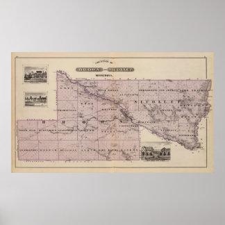 Counties of Brown and Nicollet, Minnesota Print