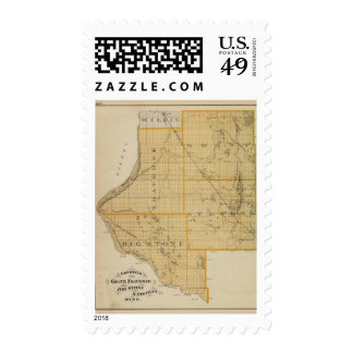 Counties of Grant, Traverse, Minnesota Postage Stamp