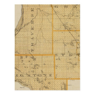 Counties of Grant, Traverse, Minnesota Postcard