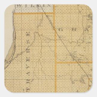 Counties of Grant, Traverse, Minnesota Square Sticker