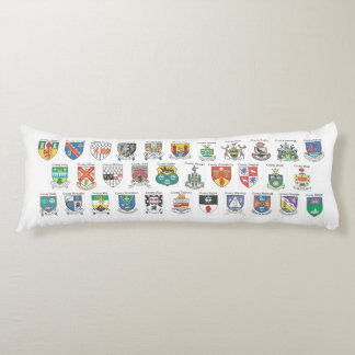 Counties of Ireland Body Pillow