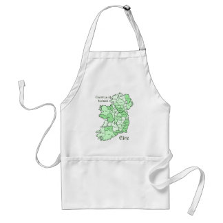 Counties of Ireland Map Adult Apron