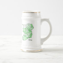 Counties of Ireland Map Beer Stein