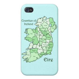 Counties of Ireland Map Case For iPhone 4