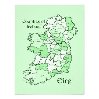 Counties of Ireland Map Invitation