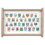Counties of Ireland Serving Tray
