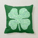 Counties of Ireland Shamrock Throw Pillows