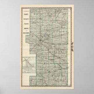 Counties of Platt, De Witt, Macon, Shelby Poster