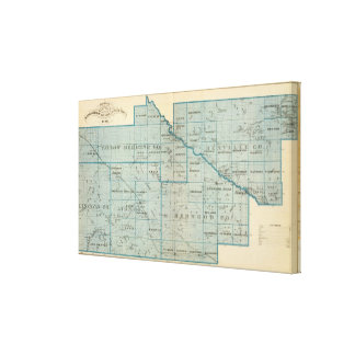 Counties of Renville, Redwood, Minnesota Gallery Wrap Canvas