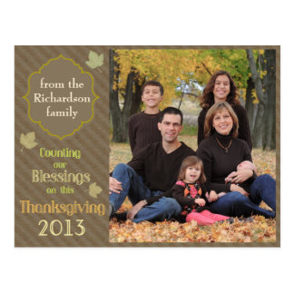 Counting Blessings Thanksgiving Postcard