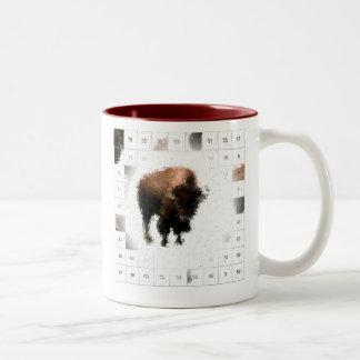 Counting Buffalo Two-Tone Coffee Mug