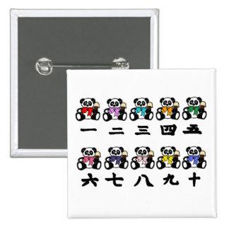 Counting Chinese Pandas Pins