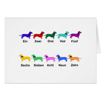 Counting German Dachshunds Card